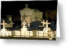 Louisiana Midnight Cemetery Lacombe Greeting Card
