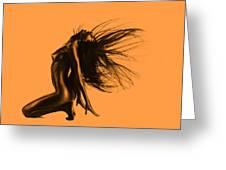 Artistic Nude Orange Greeting Card