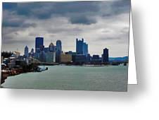 Artistic Pittsburgh Skyline Greeting Card