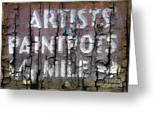 Artists' Paintpots Sign Greeting Card