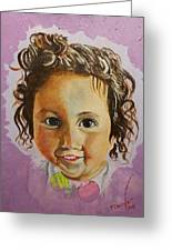 Artist's Youngest Daughter Greeting Card by Marwan  Khayat