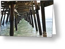 Long Walk Short Pier Greeting Card