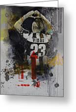 Arturo Vidal - B Greeting Card