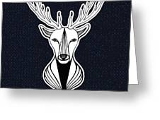 Artwork With Deer Head. Hipster Print Greeting Card