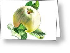 Artz Vitamins Series A Happy Green Apple Greeting Card