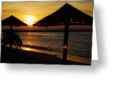 Aruba Sunset Greeting Card