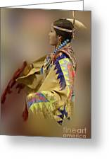 Pow Wow As In A Dream 2 Greeting Card