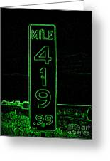 As Pure As It Gets In Green Neon Greeting Card