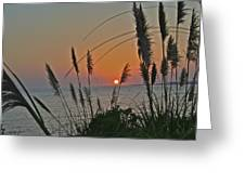 as the sun sets at Seascape Greeting Card