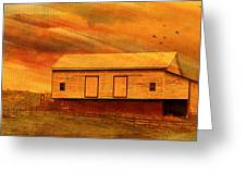 As The Sun Sets Greeting Card by Kathy Jennings