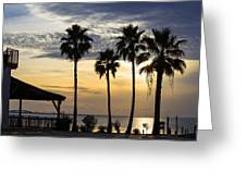 As The Sun Sets South Padre Island Texas Greeting Card