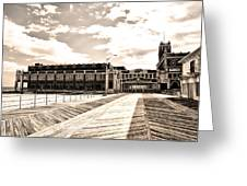 Asbury Park Boardwalk And Convention Center Greeting Card