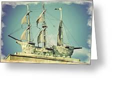 Asbury Park Convention Hall Ship Greeting Card