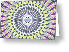Ascending Eye Of Spirit Kaleidoscope Greeting Card by Derek Gedney