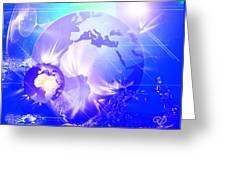 Ascending Gaia Greeting Card