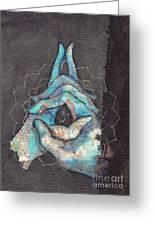 Ascension - Crown 'blue Hand' Chakra Mudra Greeting Card