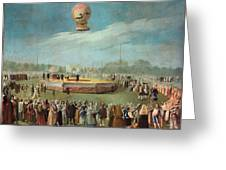 Ascent Of A Balloon In The Presence Of The Court Of Charles Iv Greeting Card