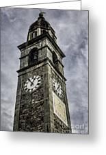 Ascona Clock Tower Greeting Card