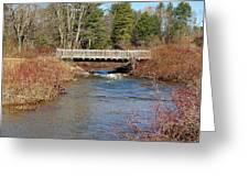 Ash Brook And Bridge Greeting Card