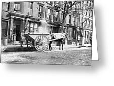 Ash Cart New York City 1896 Greeting Card by Unknown