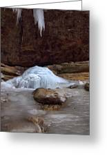 Ash Cave Frozen Over Greeting Card