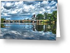 Ashepoo Train Trestle Greeting Card