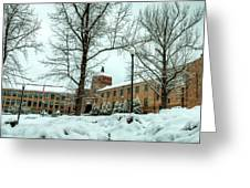 Asheville High School During Winter Greeting Card