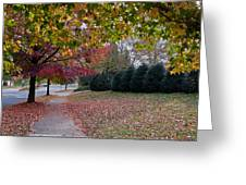 Asheville In The Fall Greeting Card by Walt  Baker