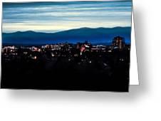 Asheville Skyline Greeting Card