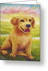Ashly's Retriever   Greeting Card