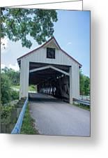 Ashtabula Collection - Mechanicsville Road Covered Bridge 7k0207 Greeting Card