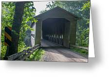 Ashtabula Collection - Middle Road Covered Bridge 7k01959 Greeting Card