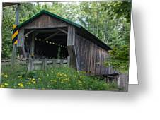 Ashtabula Collection - Riverdale Road Covered Bridge 7k02981 Greeting Card