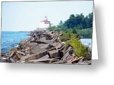Ashtabula Lighthouse On Lake Erie Greeting Card