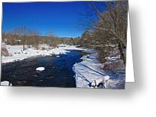 Ashuelot River In Winter Greeting Card