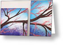 Asian Bloom Triptych 1 2 Greeting Card