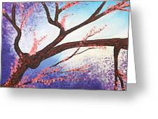 Asian Bloom Triptych 1 Greeting Card
