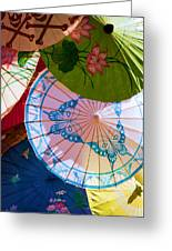 Asian Umbrellas Greeting Card