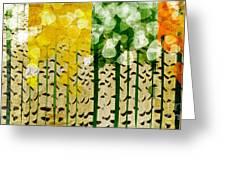 Aspen Colorado 4 Seasons Abstract Greeting Card