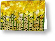 Aspen Colorado Abstract Panorama Greeting Card