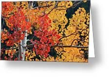 Aspen Reds Greeting Card