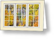 Aspen Tree Magic Cream Picture Window View 3 Greeting Card by James BO  Insogna
