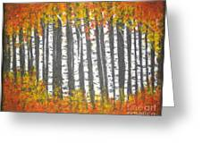 Aspen Trees Greeting Card by Elena  Constantinescu
