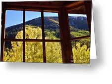 Aspen Window 2 Greeting Card