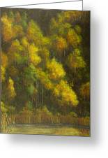 Aspens And Cattails Greeting Card
