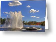 Aspetuck Reservoir Greeting Card by Joann Vitali