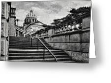 Aspirations In Black And White Greeting Card