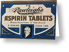 Aspirin 5 Grains Greeting Card