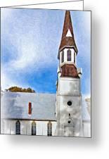 Aspiring Chapel Impasto Greeting Card
