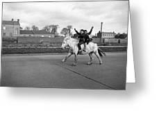 Aspiring Cowboys In Dublin 1961 Greeting Card